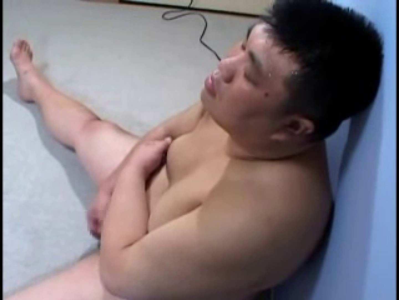 ポッチャリ君のツルりんチンコで大量射精 メンズの剃毛 | デブメンズ  53画像 11